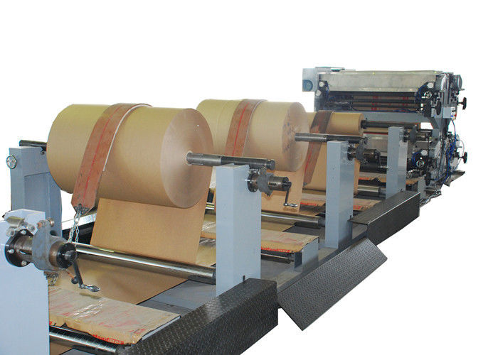 47kw Automatic Valve Paper Bag Making Line / Paper Bag Machinery with Servo System